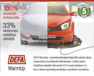 Lohkolämmitin | lohkolämmittimen asennus | DEFA moottorinlämmitin | Järvenpään Varaosakeskus