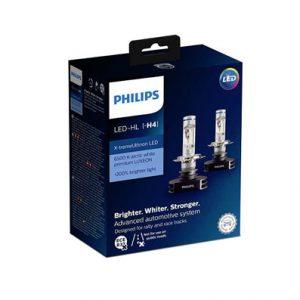 Led polttimot ajovaloihin Philips H4 H7 X-Tremeultinon (+200% ja 6500K)