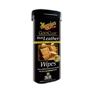Meguiars Rich Leather Wipes | Meguiars autonhoitotuotteet | Järvenpään Varaosakeskus